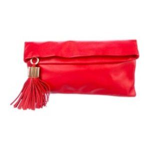 India Hicks Carmen Clutch - Red - NEW